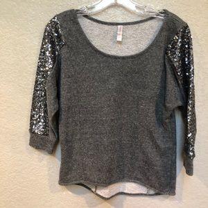 Xhilaration. Embellished  pullover top.sequins